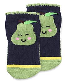 Mustang Anti Skid Fruit Design Socks - Navy