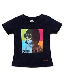 Vitamins Half Sleeves T-Shirt Printed - Dark Blue