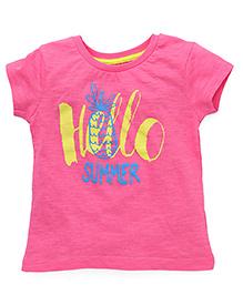 Vitamins Half Sleeves T-Shirt Printed - Rose Pink