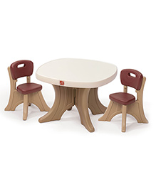 Step2 New Traditions Table & Chairs Set - Brown