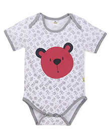 Tiny Bee Infant Boys Teddy Print Onesie - White