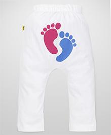 Tiny Bee Unisex Diaper Legging - White