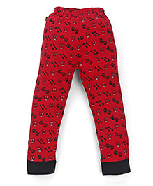 Tiny Bee Boys Nightwear Pants - Red