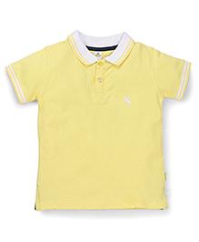 Tiny Bee Boys Polo Neck T-Shirt - Yellow