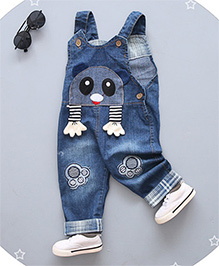 Pre Order - Superfie Cute Character Patch Dungaree - Blue