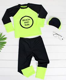 Pre Order - Awabox Beach & Sun Print Swimsuit -  Yellow