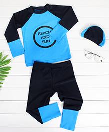 Pre Order - Awabox Beach & Sun Print Swimsuit - Blue