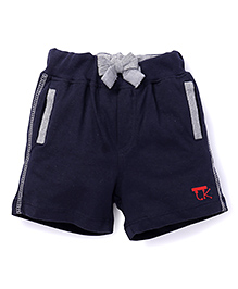 Little Kangaroos Shorts With Elasticated Waist And Drawstrings - Navy