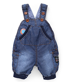 Little Kangaroos Dungaree With Pockets - Dark Blue