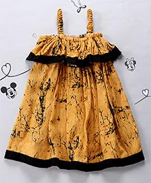 Periwinkles Golden Wattle Dress - Black & Yellow