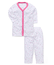 Playbeez Little Stars Print Sleep Wear Two Piece Set - Multicolor