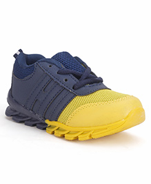 Cute Walk by Babyhug Sneakers - Navy And Yellow