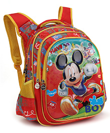 Disney School Bags Mickey Print Red - 17 Inches