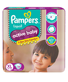 Pampers Active Baby Diapers XL - 56 Pieces