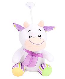 Dimpy Stuff Cow Soft Toy Purple - 21 Cm