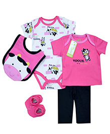 Tickles 4 U 5 Piece Attractive Infant Set - Pink