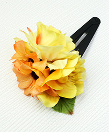Asthetika Flower & Leaf Tic Tac Hair Clip - Yellow
