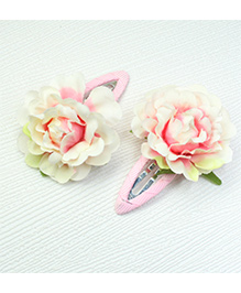 Asthetika Flower Hair Clip Set Of 2 - Off White