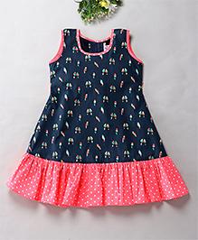 Mom's Girl Casual Summer Dress - Navy Blue