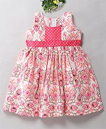 Mom's Girl Flower Printed Summer Dress - Pink