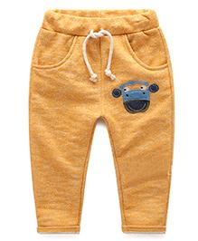 Funtoosh Kidswear Puppy Applique Pant - Biege
