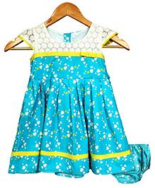 Bella Moda Pretty Heart Print Dress With Bloomer - Blue