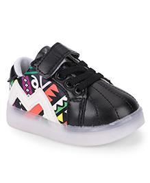 Little Maira Stylish LED Sneakers - Black