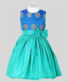 The KidShop Ethinc Circle Motif Print Dress - Blue & Green