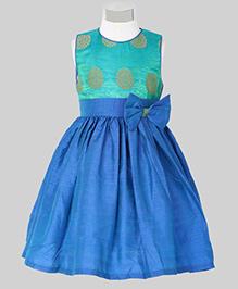 The KidShop Ethinc Circle Motif Print Dress - Green & Blue