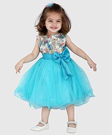 The KidShop Rose Glitter Party Dress - Blue