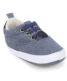 Cute Walk by Babyhug Shoe Style Booties - Blue & White