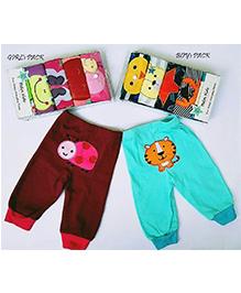 Petite Kids Baby Printed Pants - Multicolor