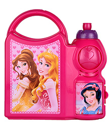 Disney Princess Lunch Box And Water Bottle Set - Pink