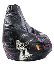 Orka Dark Star Wars Digital Printed Bean Bag Cover Black - XL