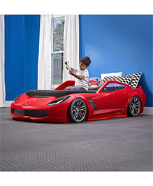 Step2 Z06 Corvette Toddler To Twin Bed With Lights - Red