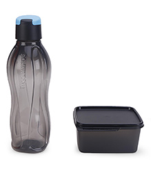 Tupperware Xtreme Lunch Box And Water Bottle Set Black - 750 Ml