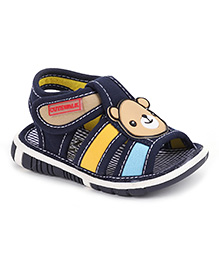 Cute Walk by Babyhug Sandals Velcro Closure Teddy Patch - Navy