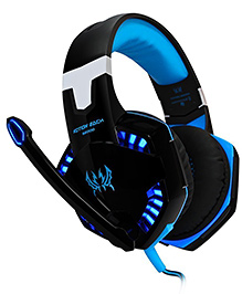 Kotion Each G2100 Over Ear Gaming Headphones With Mic LED And Vibration - Black Blue