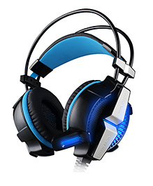 Kotion Each G7000 7.1 Channel USB Gaming Headphones For PC With Vibration - Black Blue