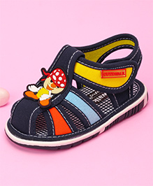 Cute Walk by Babyhug Sandal Cartoon Patch - Navy