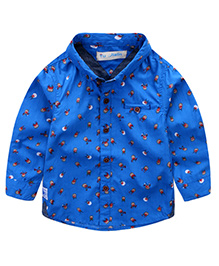 Pre Order - Lil Mantra Bee Print Shirt - Blue