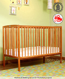 Babyhug Malmo Cot Antique Finish