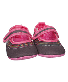Bootie Pie Belly Shoes Style Booties - Grey Pink