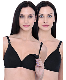 Inner Sense Organic Antimicrobial Nursing Bra Pack Of 2 - Black