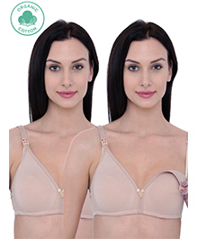 Organic Antimicrobial Nursing Bra Pack Of 2 - Beige