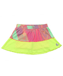 Tyge Tier Skirts With Shorts Attached - Neon Yellow