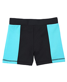 Tyge Contrast Shorts - Black & Blue