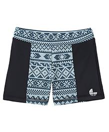 Tyge Digital Printed Shorts - Black