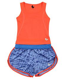 Tyge Set Of T-Shirt & Dolphin Shorts - Orange