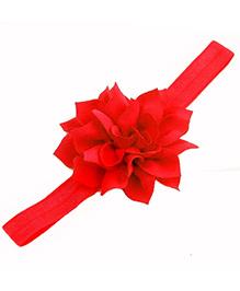 Bellazaara Lotus Design Elasticated Headbands - Red
